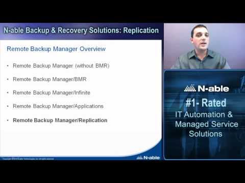 N-able Backup & Recovery Solutions: Replication - Part 1