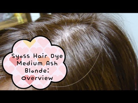 Syoss Hair Dye In Medium Ash Blonde 7 1 Overview YouTube