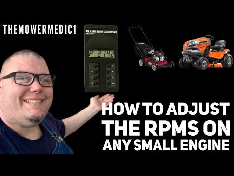 HOW TO ADJUST THE ENGINE RPM'S ON A BRIGGS AND STRATTON ENGINE