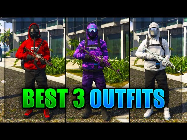 Top 3 Best TryHard & RnG Modded Outfits - GTA 5 Cool Outfits