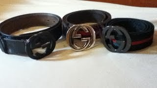 Gucci Belt Real vs Fake comparison