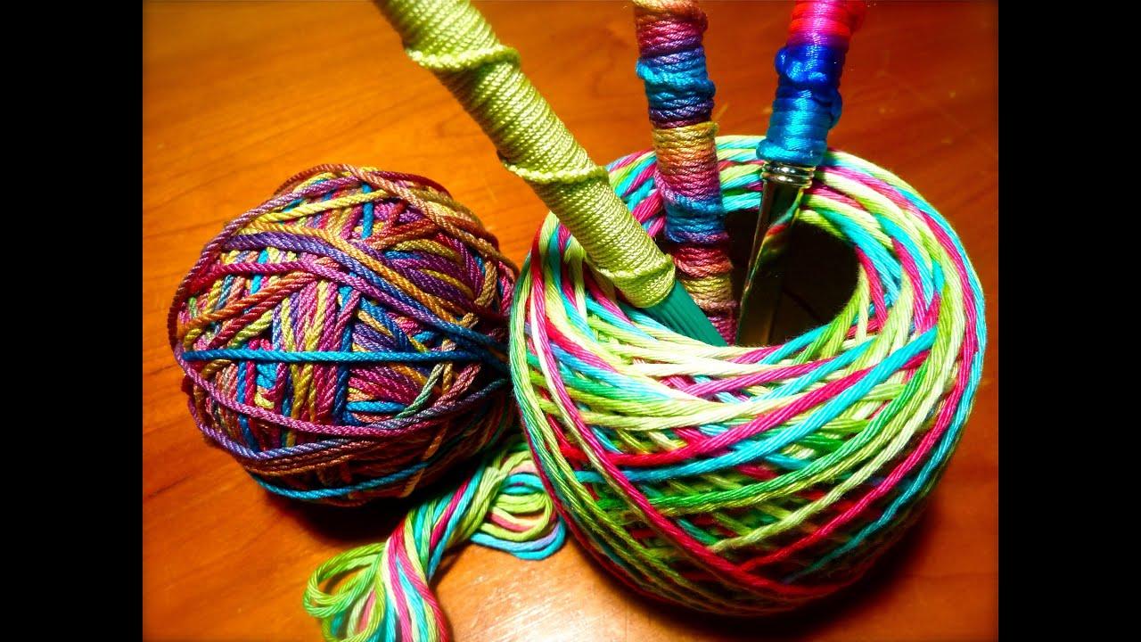 Diy Decorative Spiral Knot Pen Craft Youtube