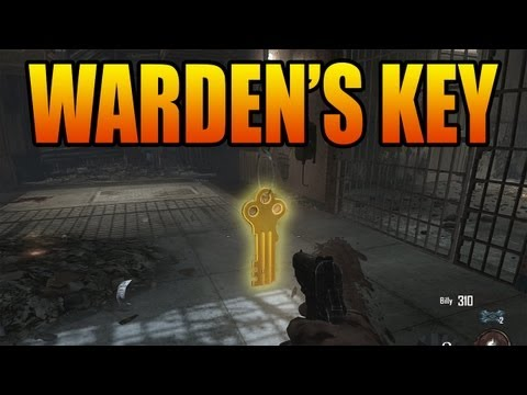 How to Find the Warden's Key - Black Ops 2 Mob of the Dead Zombies (Get the Warden Keys)