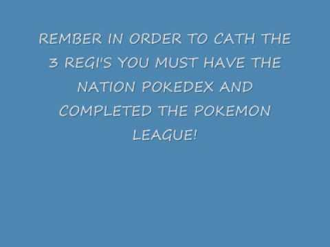 Pokemon Platinum (US/UK) TRU Regigigas Action Replay code!!!