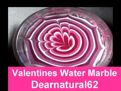#147 TUTORIAL   Valentines Water Marble Nails