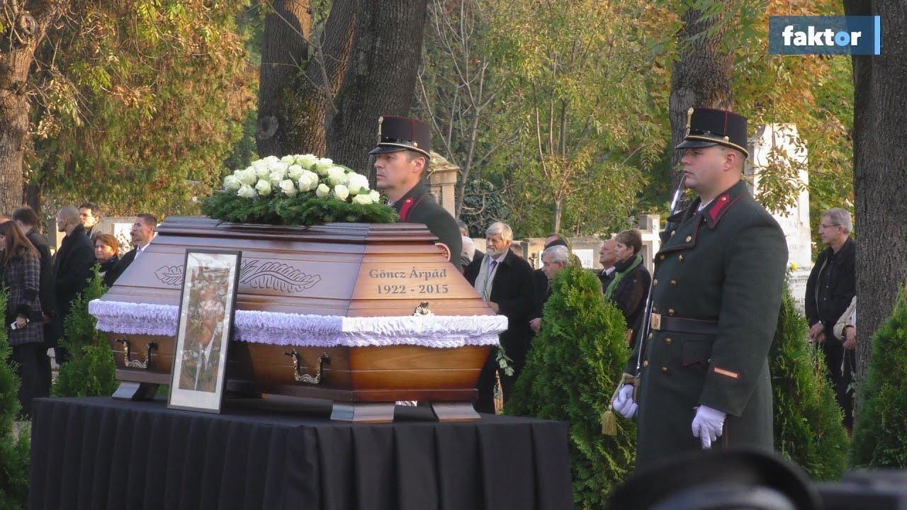 Göncz Árpád temetése - videó