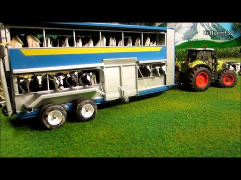 Siku control MODELLBAU- stop motion video COW,COW, COW and CRAZY TRACTOR POWER CLAAS AXION,IHC 4WD