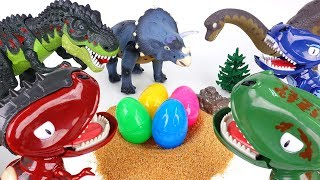 3 Dinosaur Egg Stealers~! Hatch'N Heroes Transforming Dinosaur Figures