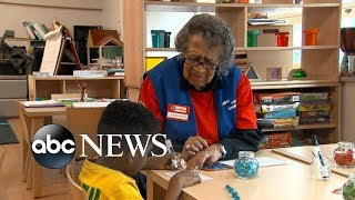 95-year-old Celemtene Bates shares the importance of love as a foster grandparent