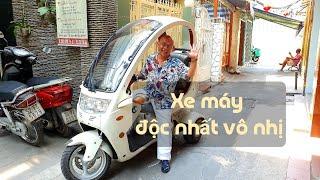 Chuyện lạ #13: Chiếc xe máy có mái che độc đáo số 1 Vietnam