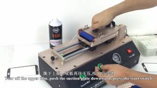 3 in 1 automatic edge OCA laminator machine for samsung S6/S7 edge (Plus) screen--From Gowell