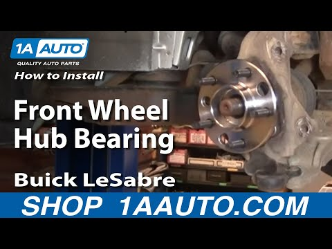 How To Install Replace Front Wheel Hub Bearing Buick LeSabre 00-05 1AAuto.com