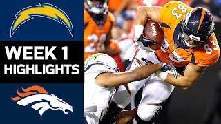 Chargers vs. Broncos   NFL Week 1 Game Highlights