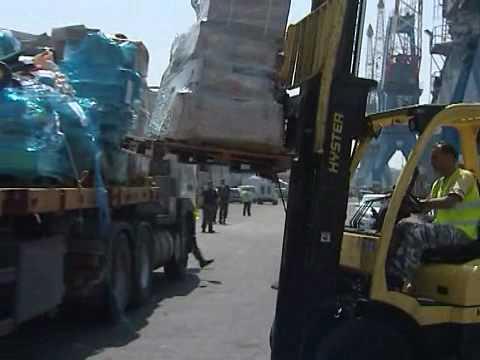 IDF Transfers Humanitarian Aid From Gaza Flotilla to Gaza Strip