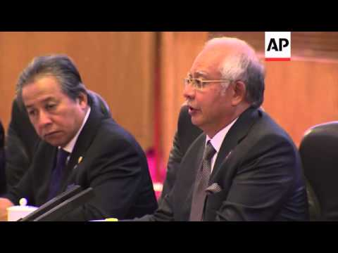 Malaysian PM meets Chinese Premier; expresses sorrow over missing plane