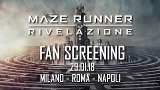 Maze Runner: La Rivelazione   Fan Screening 29.01.2018   20th Century Fox 2017