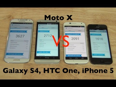 Motorola Moto X. Versus Galaxy S4. HTC One. iPhone 5