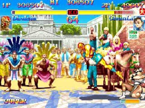 Super Street Fighter 2 TURBO \\\  RGB_Loc (DHALSIM) vs (CHUNLI) ModeOne \\\