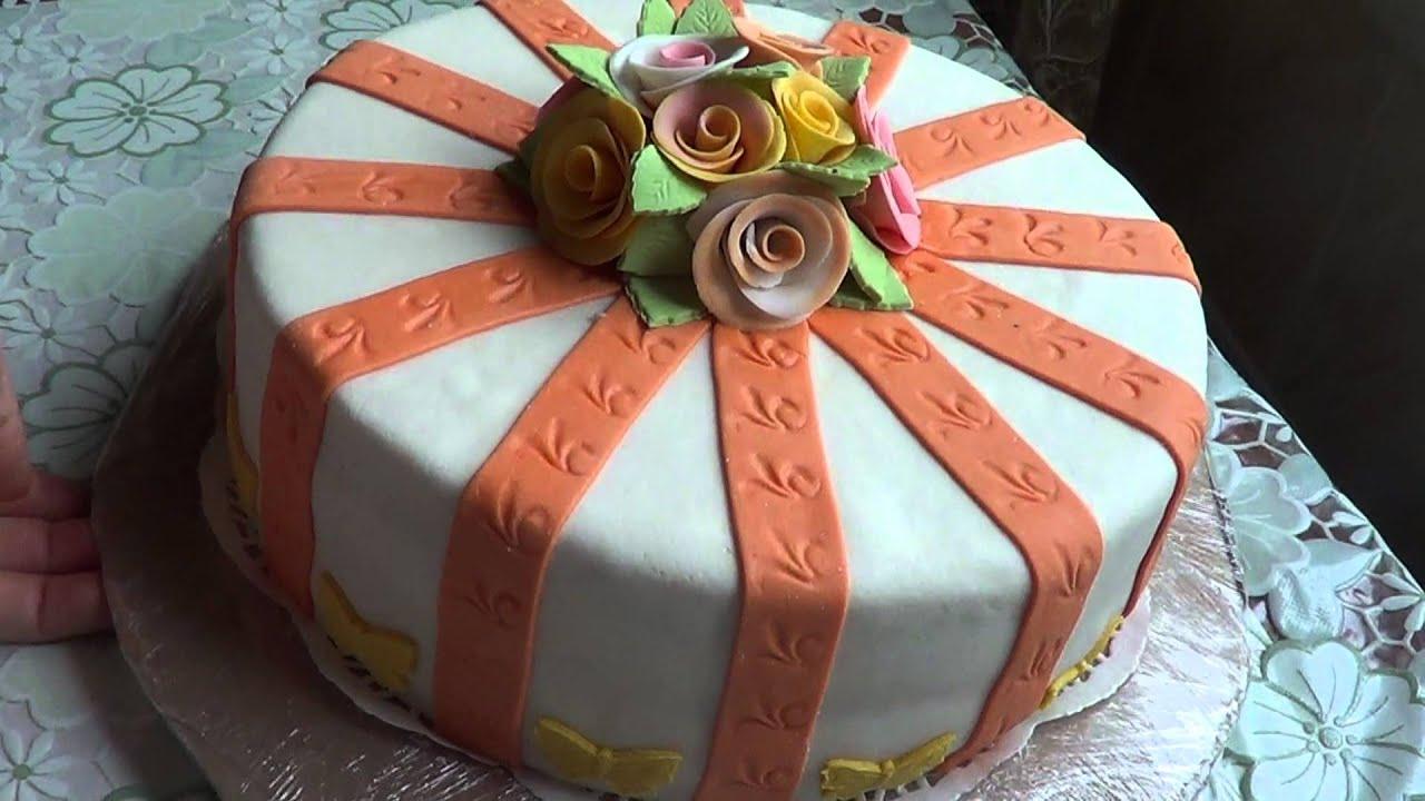 Торт из мастики своими руками мужчине на день рождения