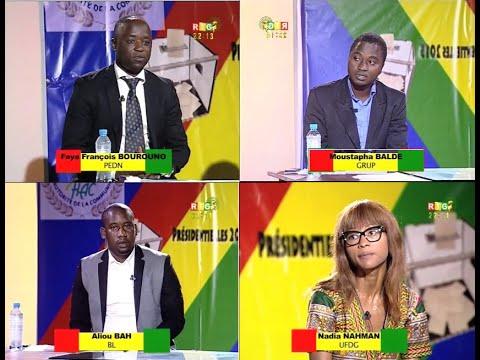 Elections présidentielles du 11 octobre 2015 -Programmes Croisés (UFDG-BL-PEDN-GRUP)