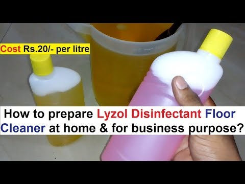 Lyzol Disinfectant Floor Cleaner Making Formula - Simple & Quick Steps