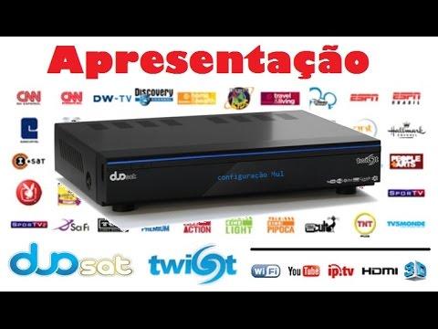 Receptor de Canais Duosat Twist Hibrido Media Center. IPTV. 3d. Iks. Sks. Sat. Cabo / Apresentação