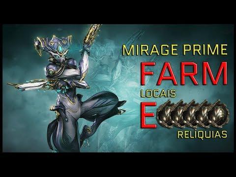 Warframe - Como farmar Mirage Prime/ Banshee Prime Build [4 Forma] Arcane - Enegize - Chorus