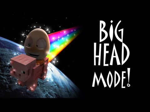 An Egg's Guide to Minecraft & More: BIG HEAD MODE!