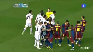 real đánh nhau với barcelona