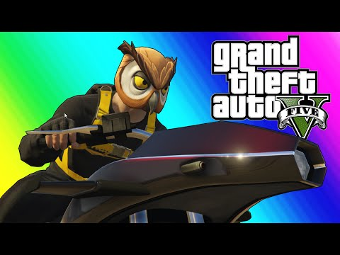GTA 5 Online Funny Moments - Flying Rocket Bike Race!