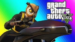 GTA 5 Online Funny Moments - Flying Rocket Bike Race!
