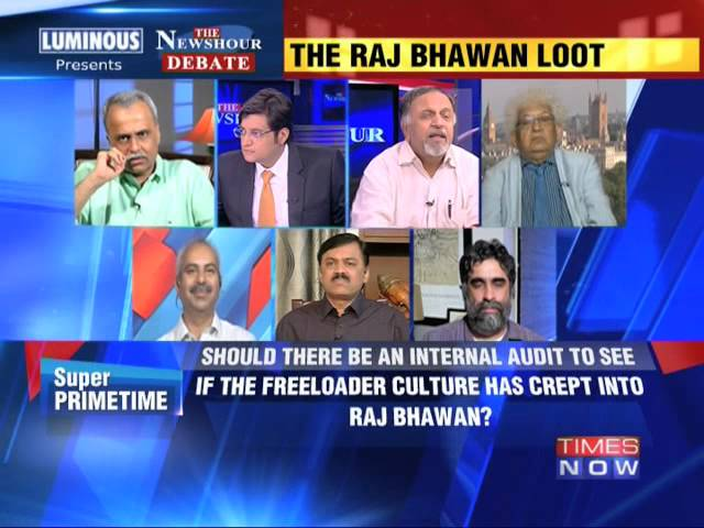The Newshour Debate: The Raj Bhawan Loot - Part 1 (30th July 2014)