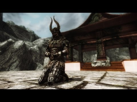 Skyrim Mods - Akaviri Samurai Armor & Dual Sheath plus Shields on Back