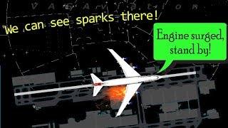 [REAL ATC] British Airways B747 engine surges on takeoff!