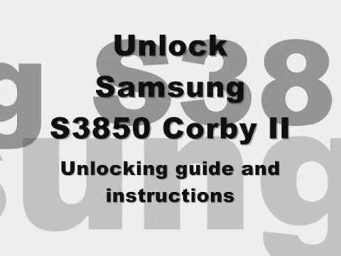 UNLOCK SAMSUNG S3850 CORBY II 2 - How to Unlock S3850 ...