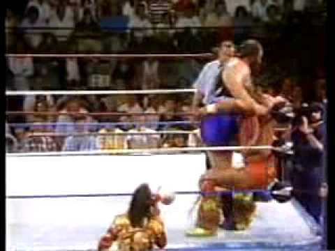 Ultimate Warrior vs Earthquake Video