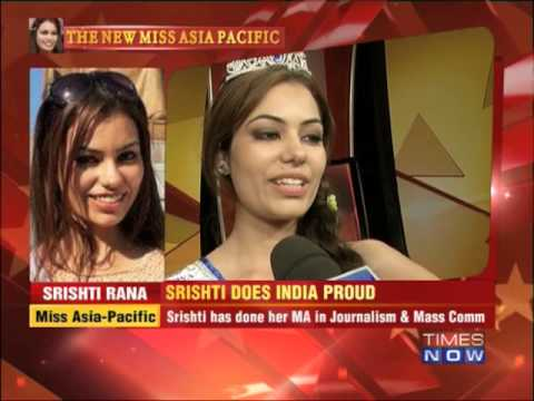 Srishti Rana does India proud new Miss Asia Pacific