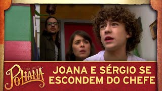 As Aventuras de Poliana | Joana e Sérgio escondem a família do Sr. Pendleton