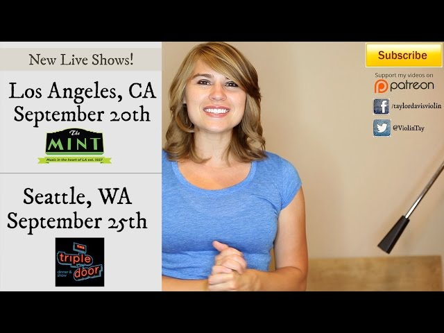 Aug. 2014 - New Live Shows and Announcements! (Taylor Davis)