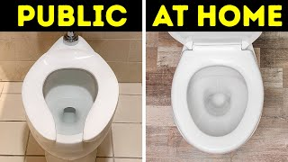 Why Public Toilet Seats Are Shaped Like a U