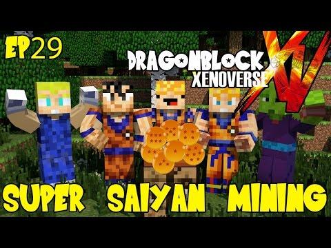 Dragon Block Xenoverse: Super Saiyan Diamond Mining! (Dragon Ball Z Minecraft EP 29)