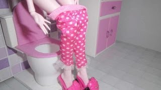 Download How to make a bathroom (toilet) for doll Monster High, Barbie, etc 3Gp Mp4