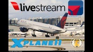 X-Plane 11 |  E195 B733 B738 B752 | ATLANTA, BIRMINGHAM, NEW ORLEANS, AUSTIN