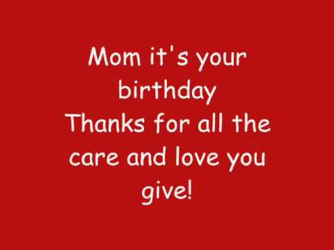 Phineas And Ferb - Mom, It's Your Birthday Lyrics (hq) video