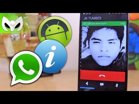 Llamadas de voz en WhatsApp Android (Demostración - Situación actual)