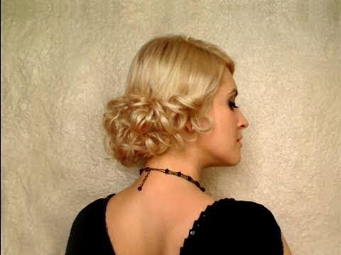 Curly wedding hairstyle for medium short hair Latwa fryzura na studniowle, slubna na srednie wlosy