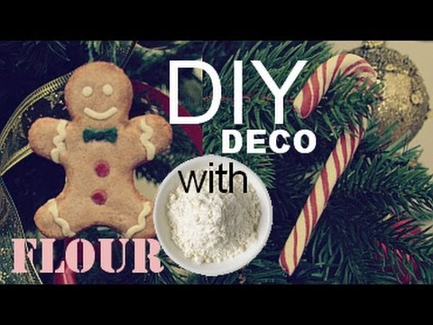 Cheap Diy Candy Canes &amp  Gingerbread Christmas Decorations        With Homemade Clay Salt Dough Heartdiy
