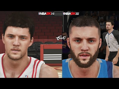 NBA 2K15 vs NBA 2K14 Graphics/Face Comparisons