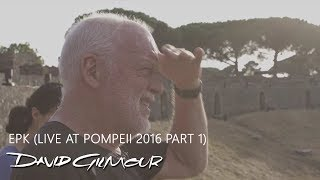 David Gilmour - 新譜「Live At Pompeii」日本盤 2017年10月11日発売予定 EPK映像Part1を公開 thm Music info Clip