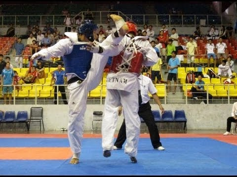 [4men Tv] Long Điền (giáp đỏ)  Taekwondo Skill video